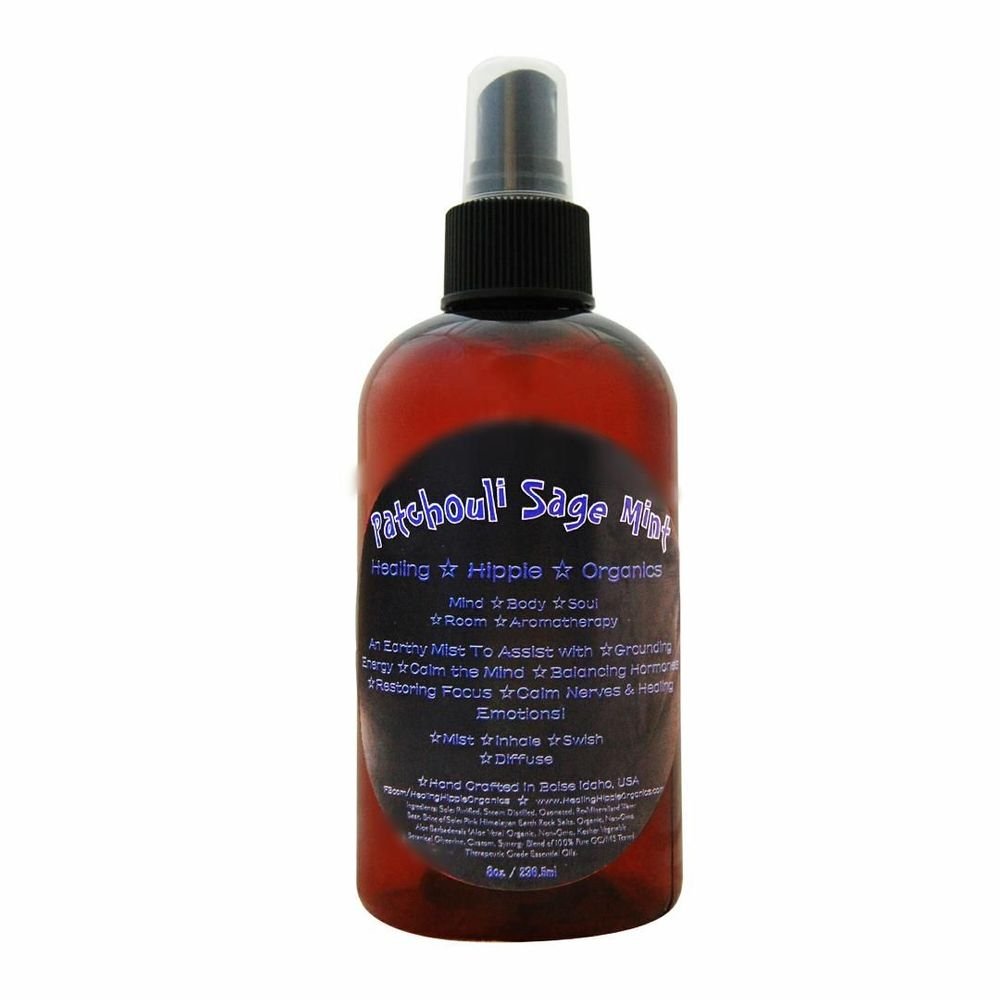 Patchouli Sage Mint Mist, Healing Hippie Organics, Boise, Idaho, USA