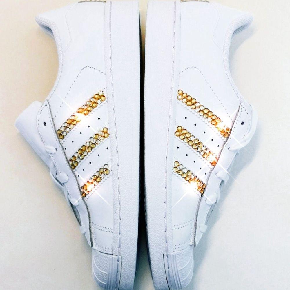 customised personalised adidas crystal stripes nicky rox