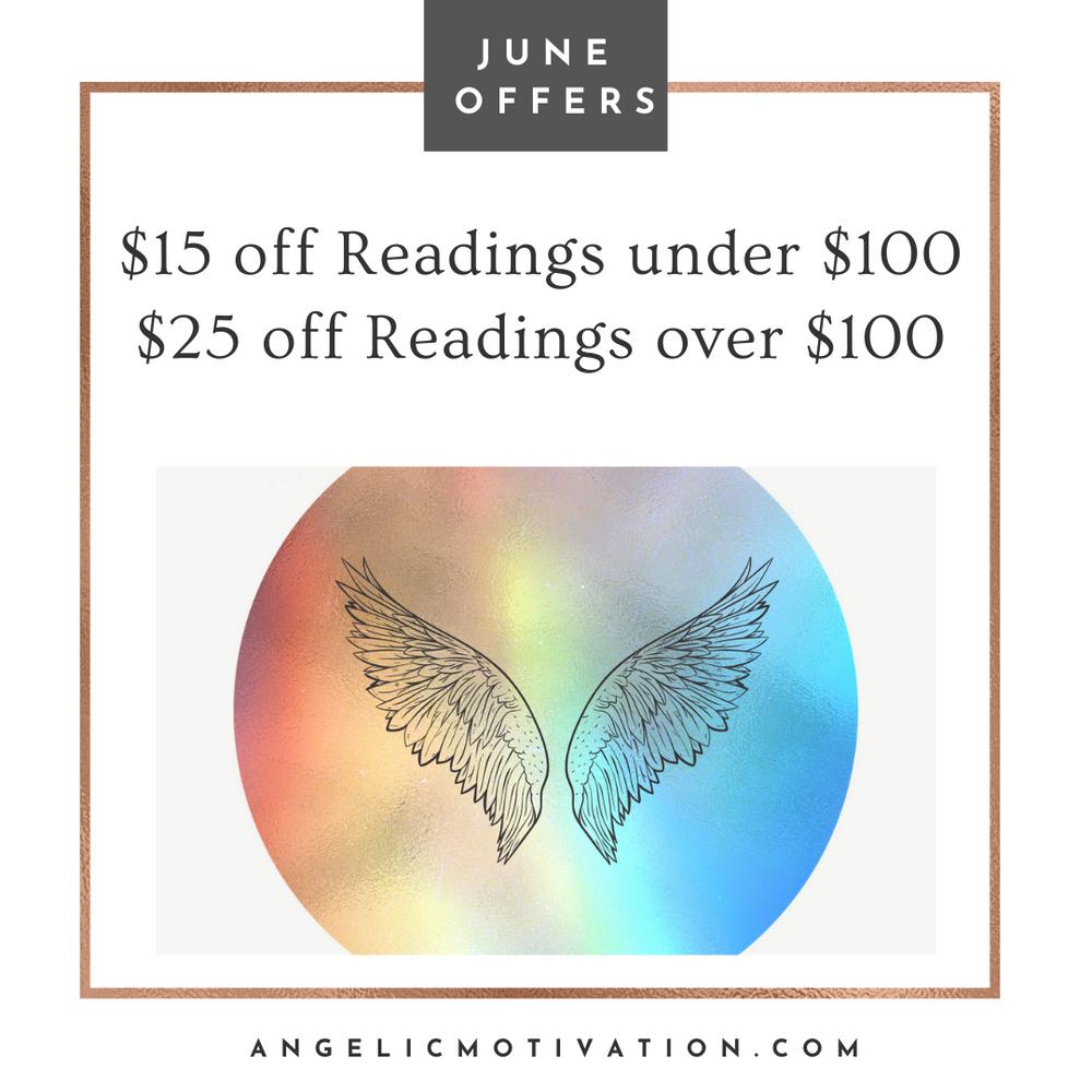 June Offers, June Sales, Angel Card Readings, Readings, Guardian Angels, Angels, Archangels, Guidance