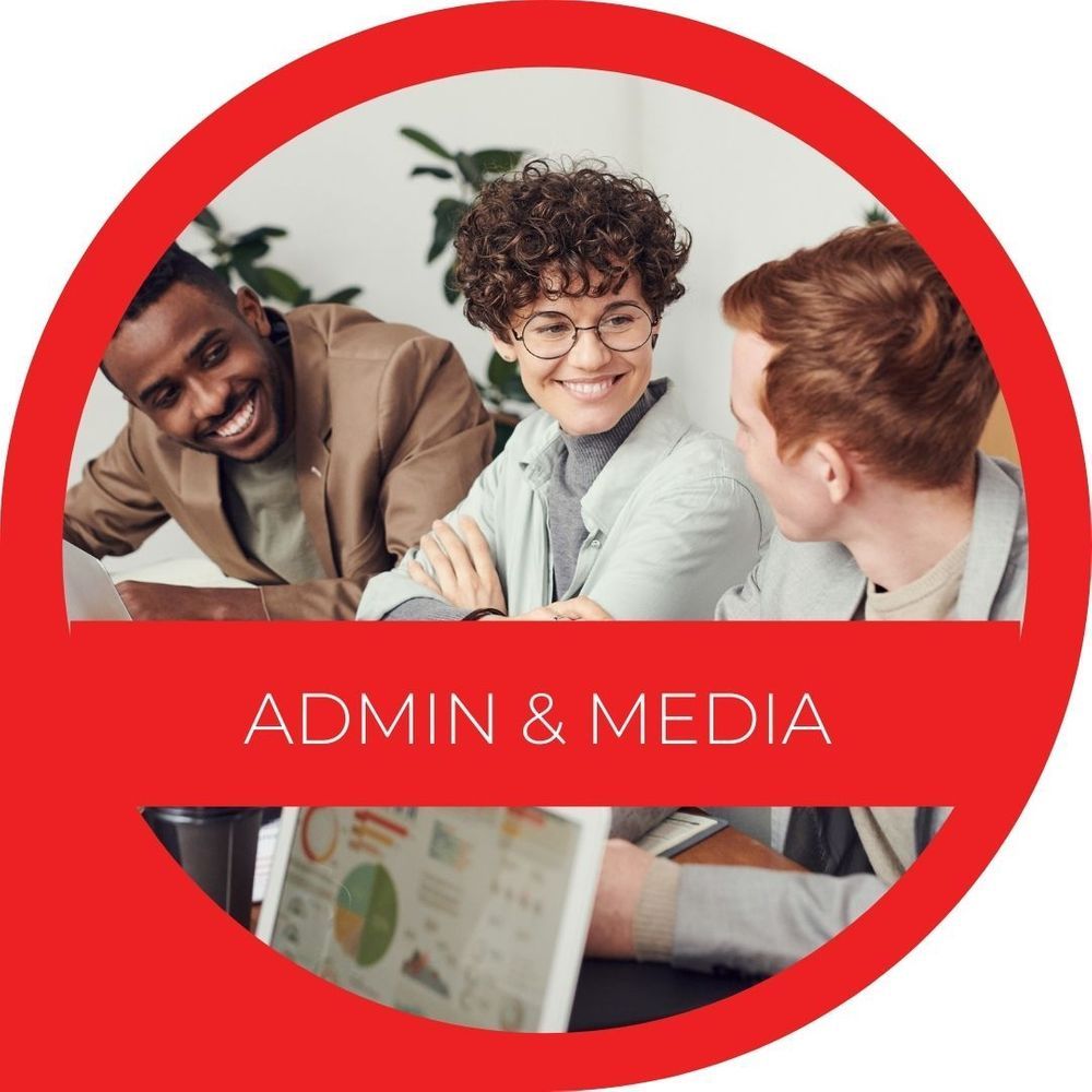 Admin and Media link