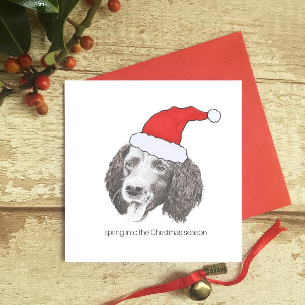 cockerhoop about Christmas funny witty humour Christmas Xmas card