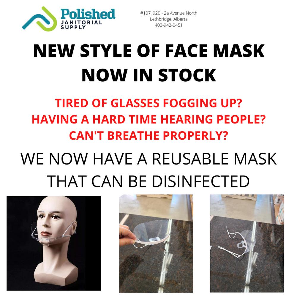 Reusable face mask / shield