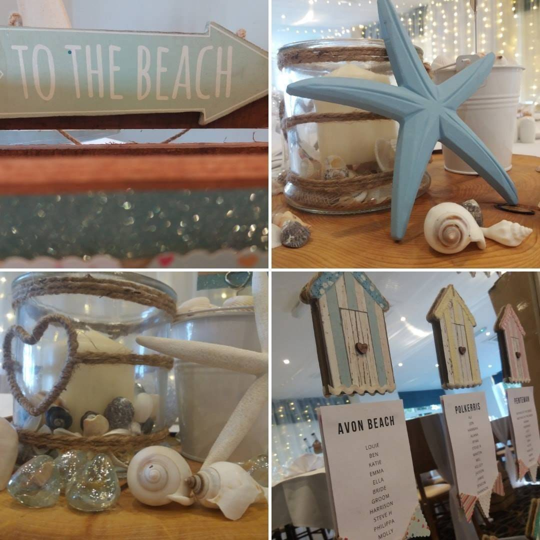 Beach themed wedding decoration ideas
