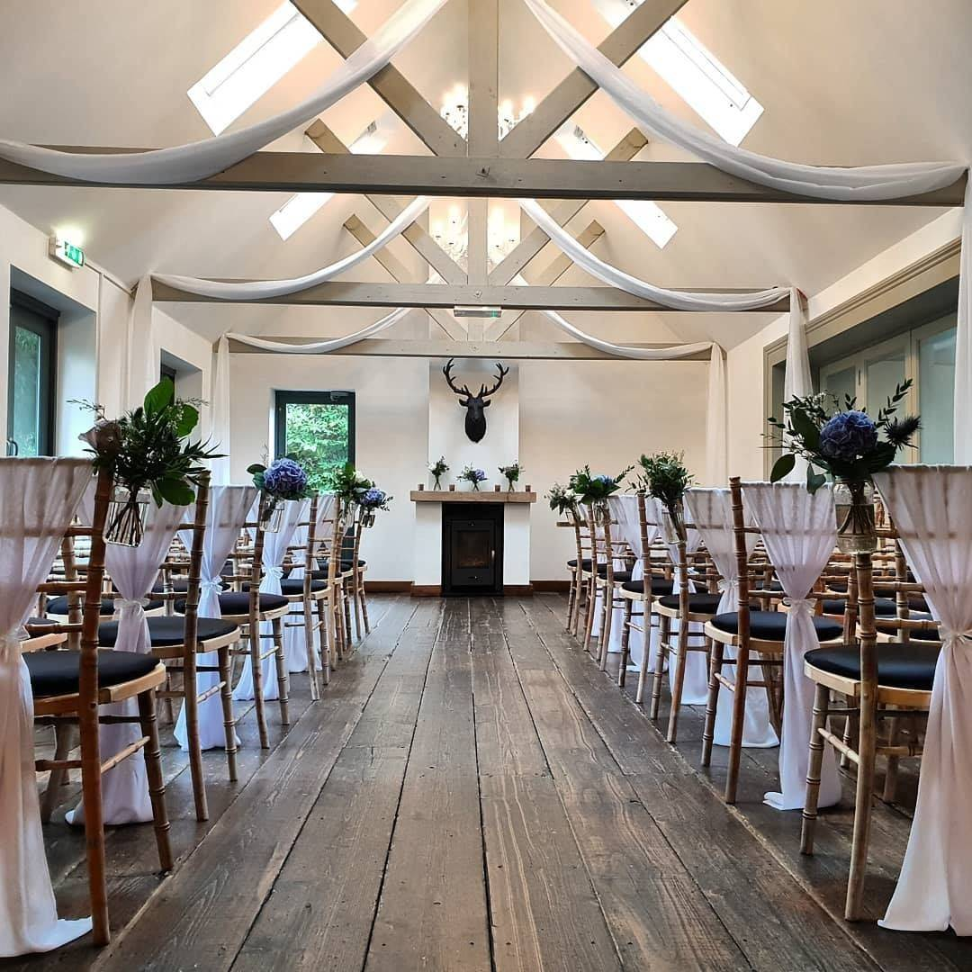 rustic wedding day styling at the old vicarage hampshire