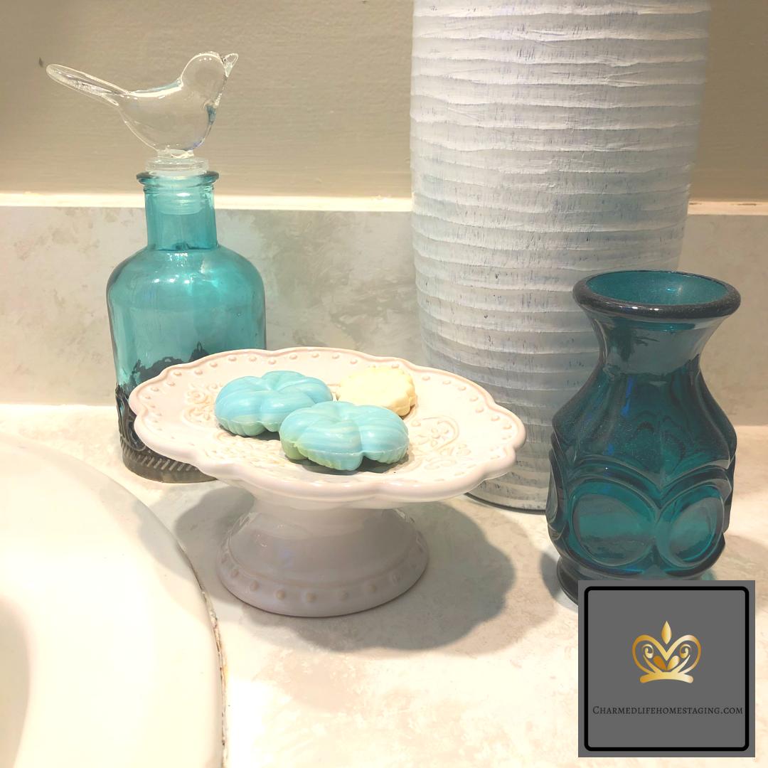 glass soap dish white bathroom