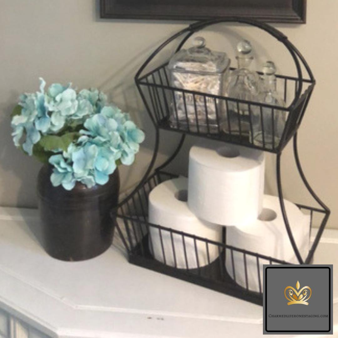 upcycled decor bathroom storage
