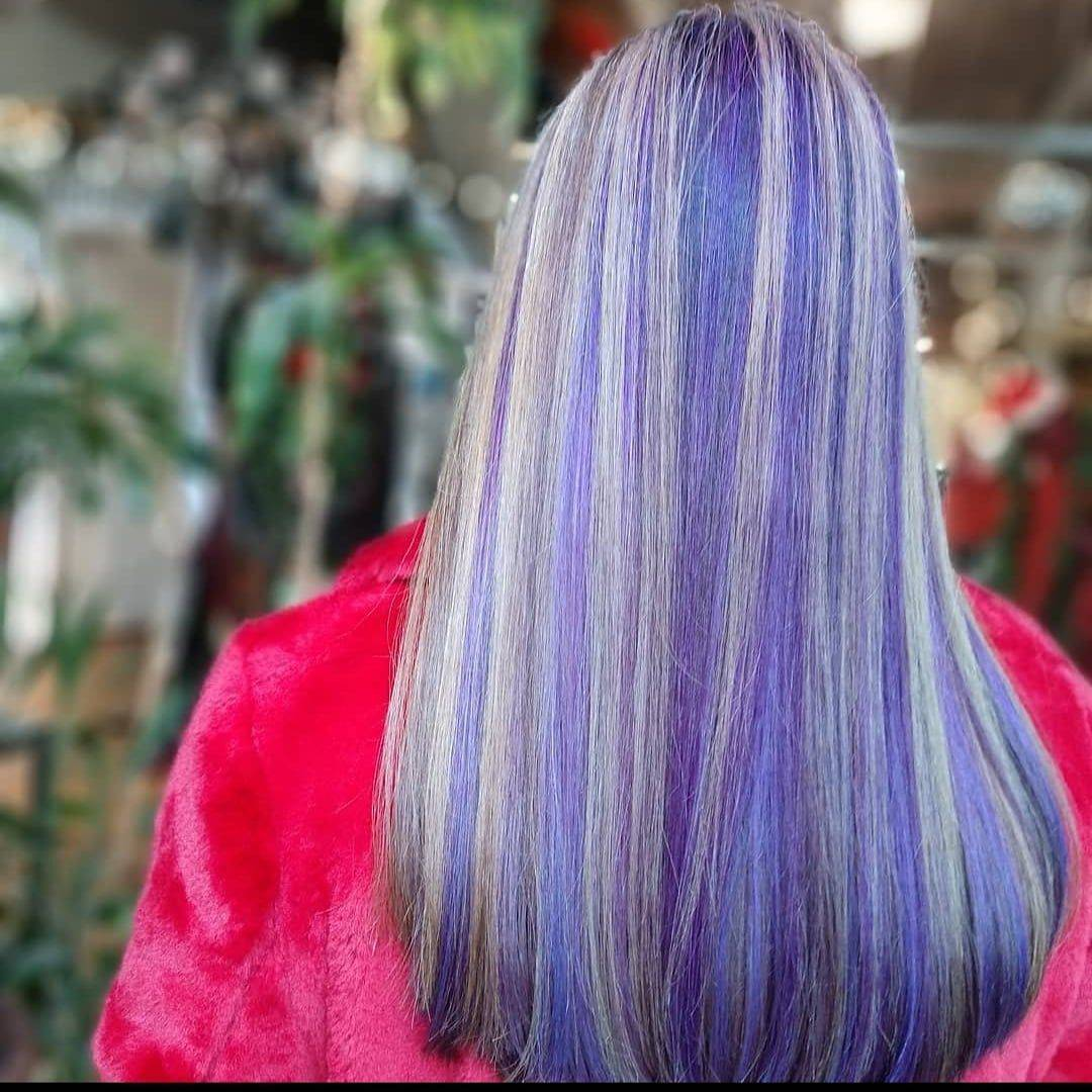 neon haircolor vivid rainbow split dye punk colorist alternative salons