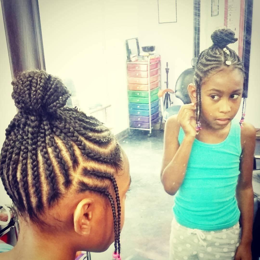 tribal braids girl styles goddess bun kid hair
