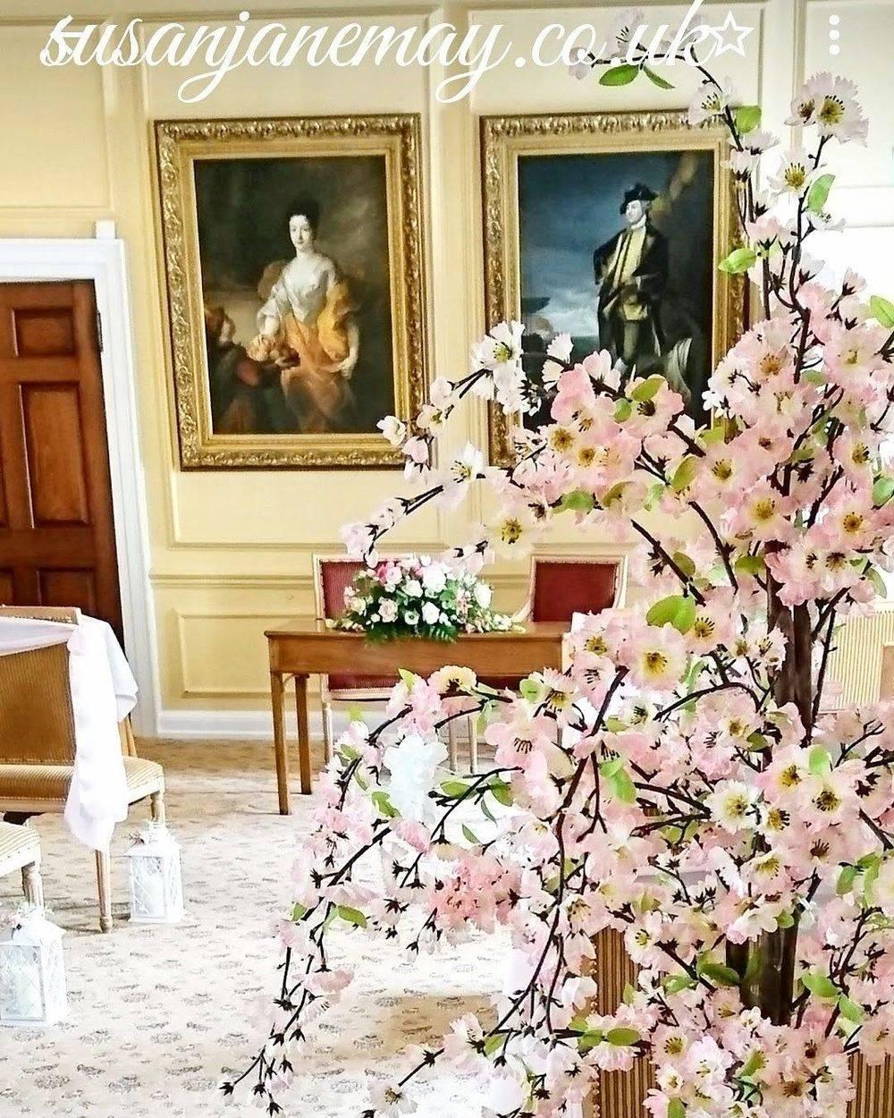 Blossom Trees Prop Hire Wedding Reception Ceremony Room Flowers Suffolk Weddings Sudbury Florist