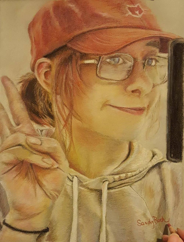 people portrait, millenial art, girl portrait art