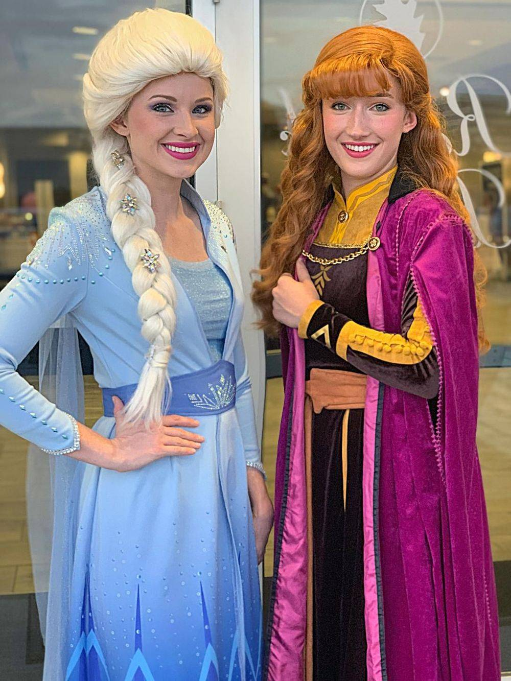 Frozen 2 party characters impersonators San Antonio