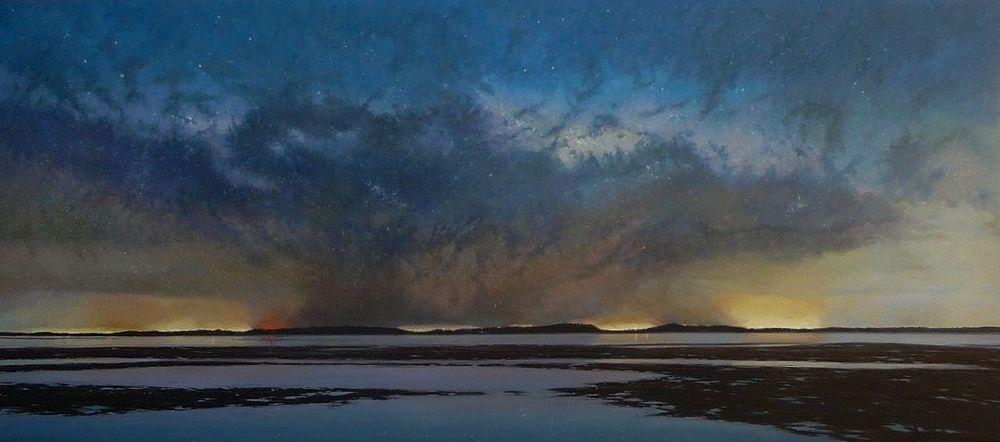 Milky Way Corinella Nightscape Oil Painting