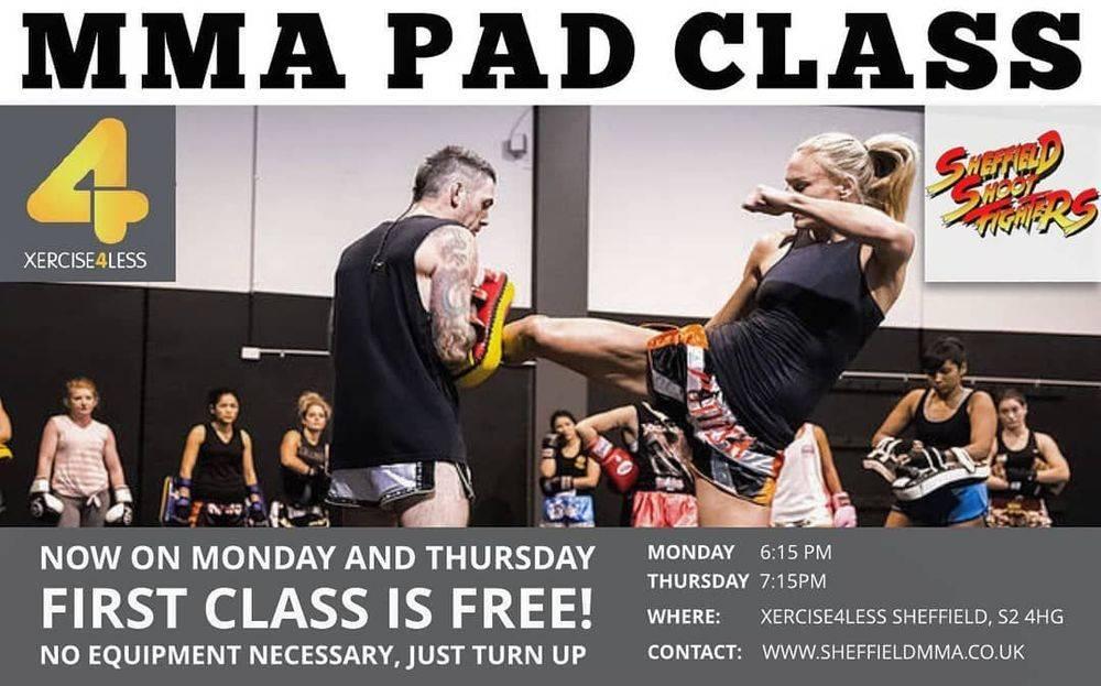 MMA Pad class sheffield martial arts padwork