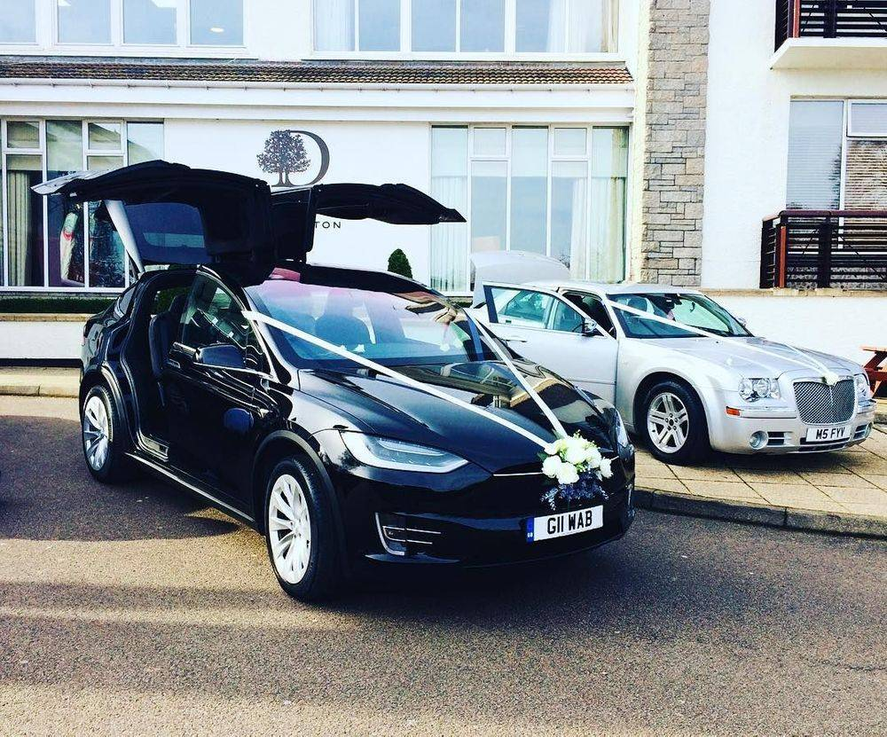 Tesla Model X Wedding Car