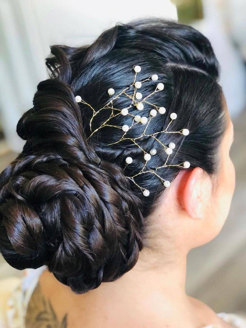 Crystal Floral Hair Branch