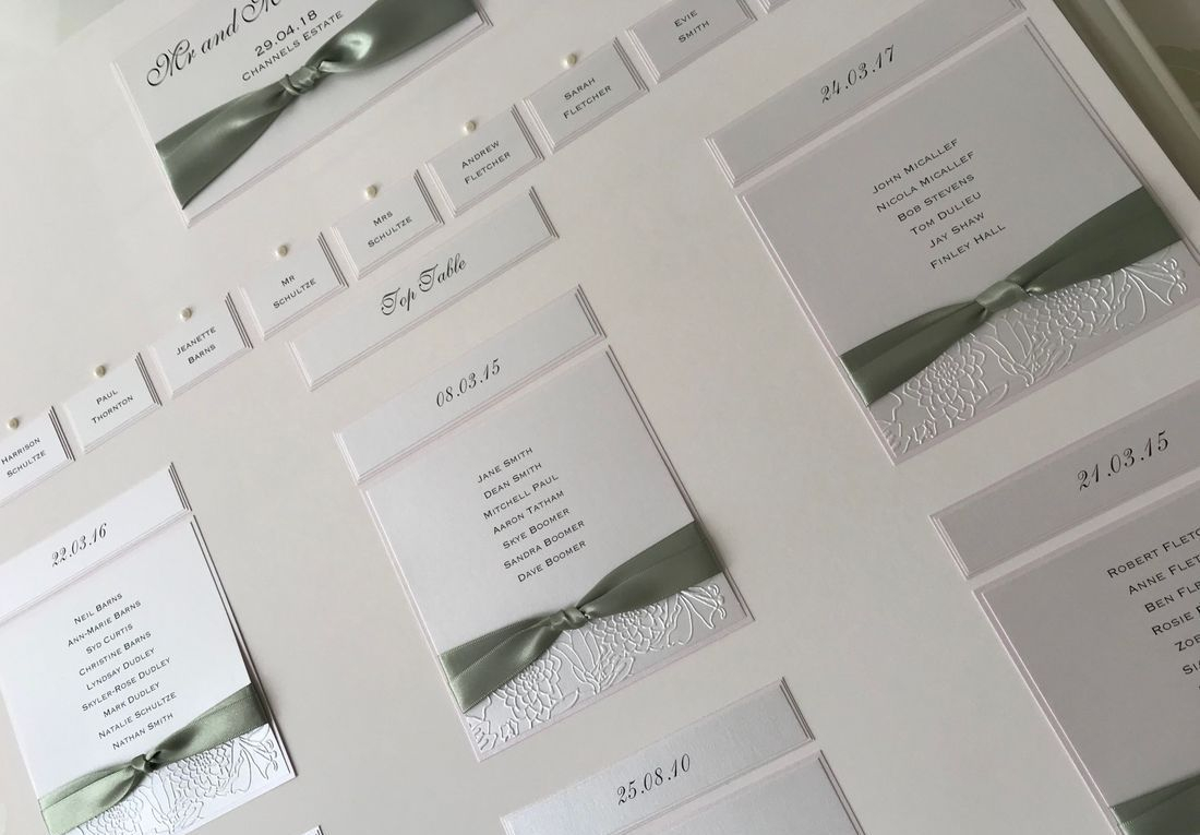 Sage Green and Pink Table Plan