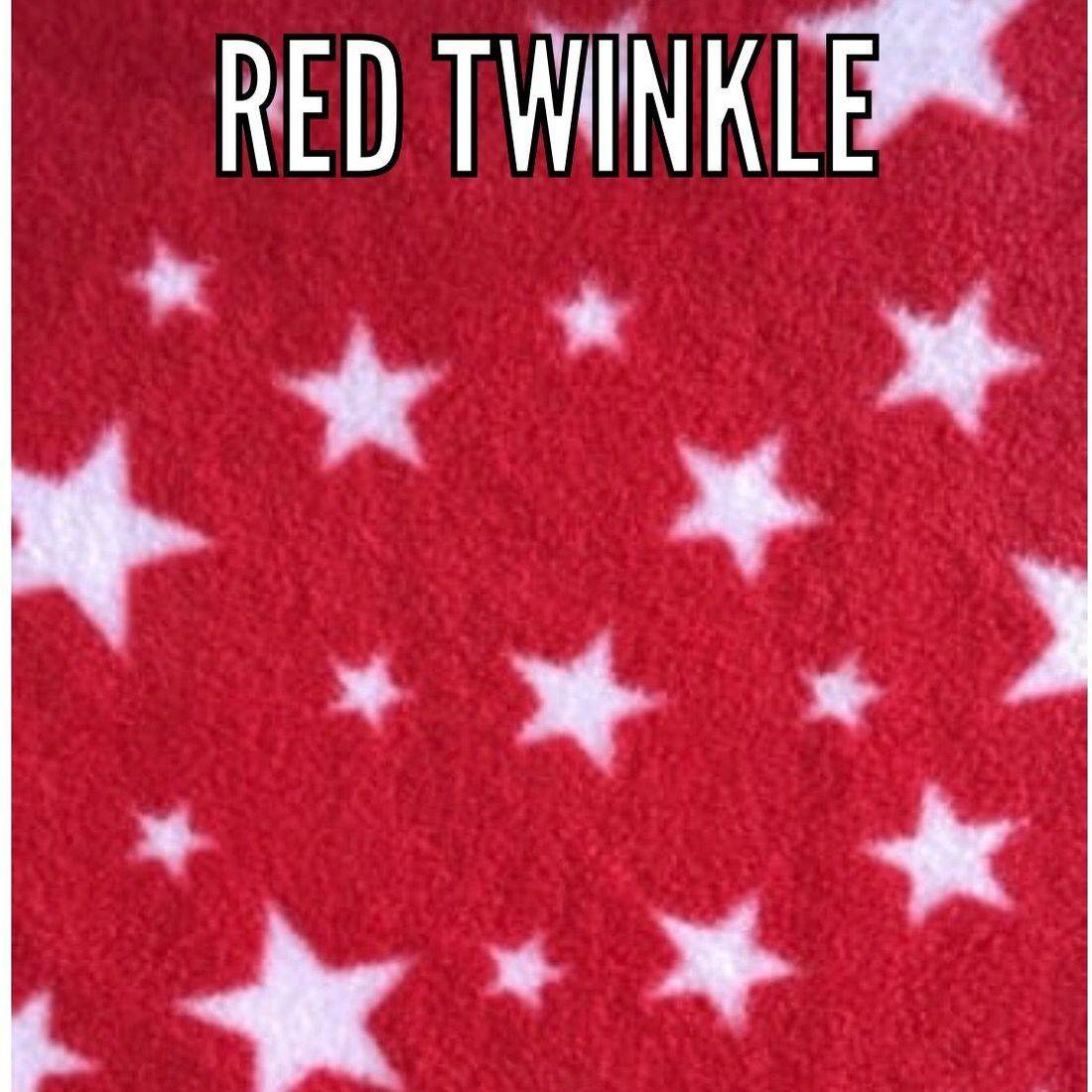 red twinkle fabric