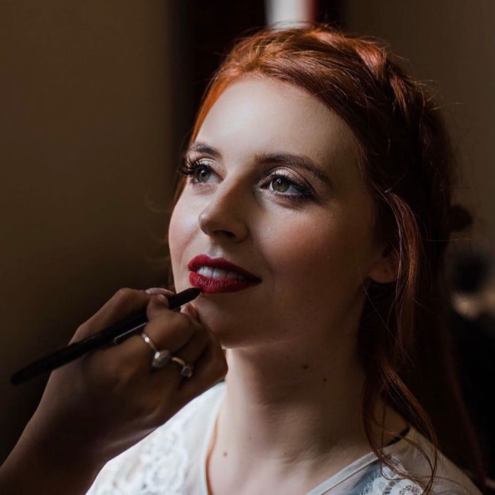 wedding makeup red lips