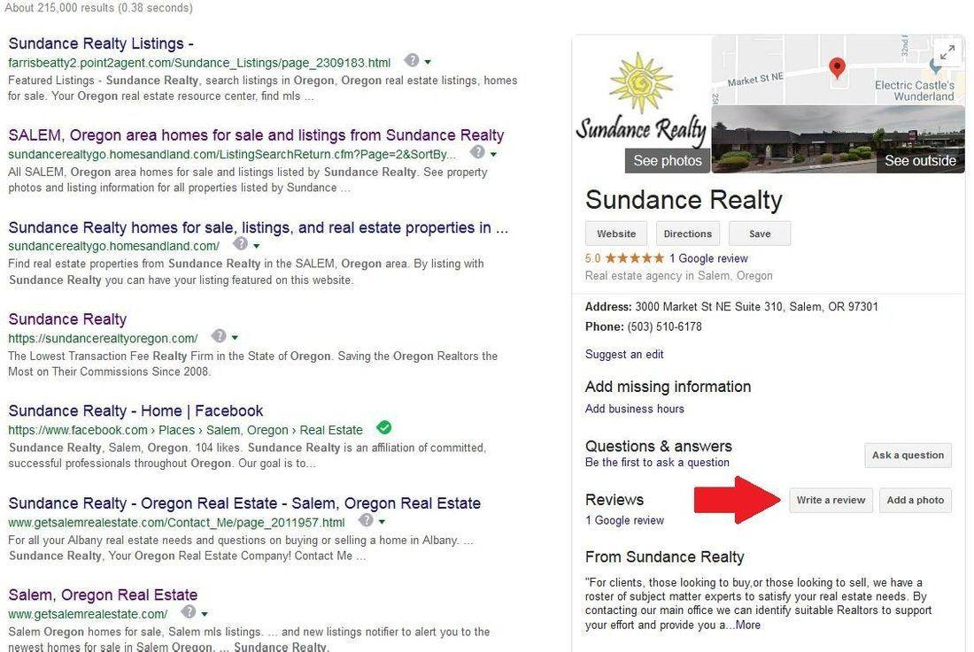 sundance realty google review, google review, realtor review
