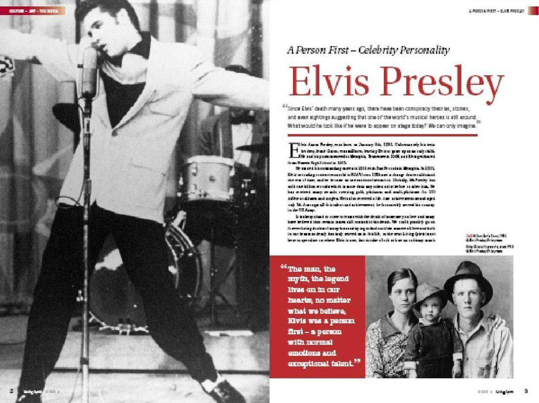 Elvis Presley - The Spiritually Driven - Featured in  Living Spirit Magazine