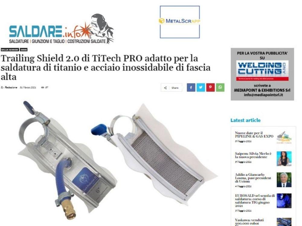 titech pro, titech production as, trailing shield 2.0, titanium, welding, sveis, slepesko 2.0