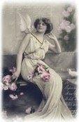 free vintage printable - lady muse postcard copy
