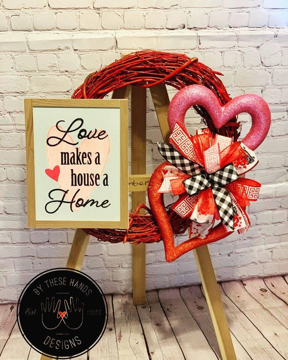 Valentine's Love Wreath