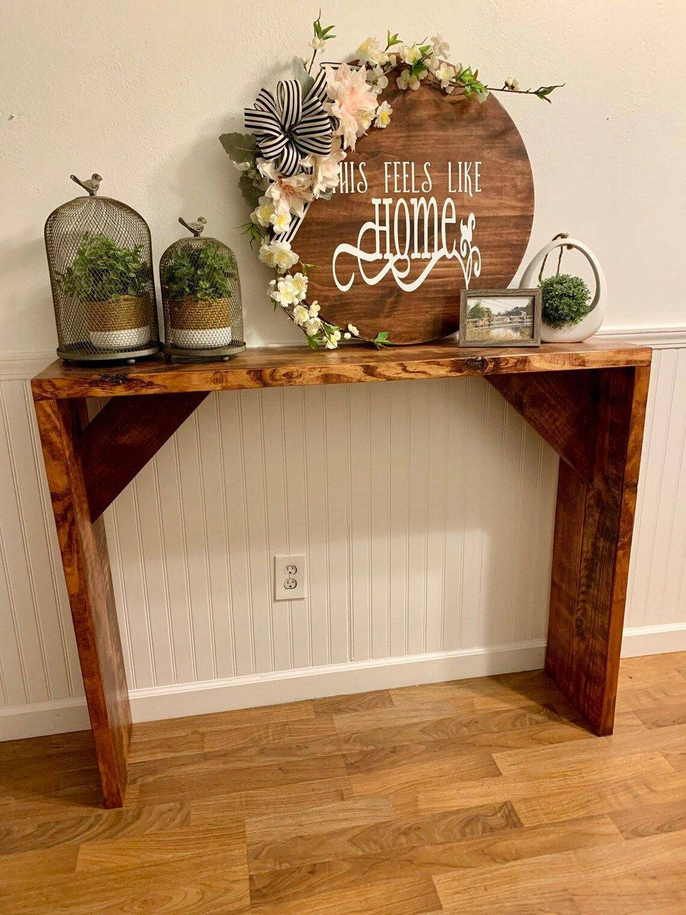 Handmade Entry Table