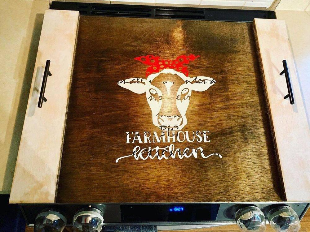 Handmade Stove Cover Board