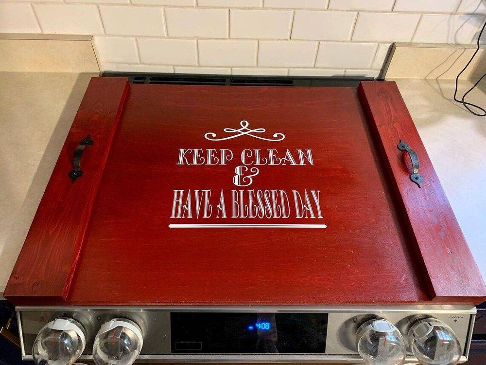 Handmade Stove Cover Boards