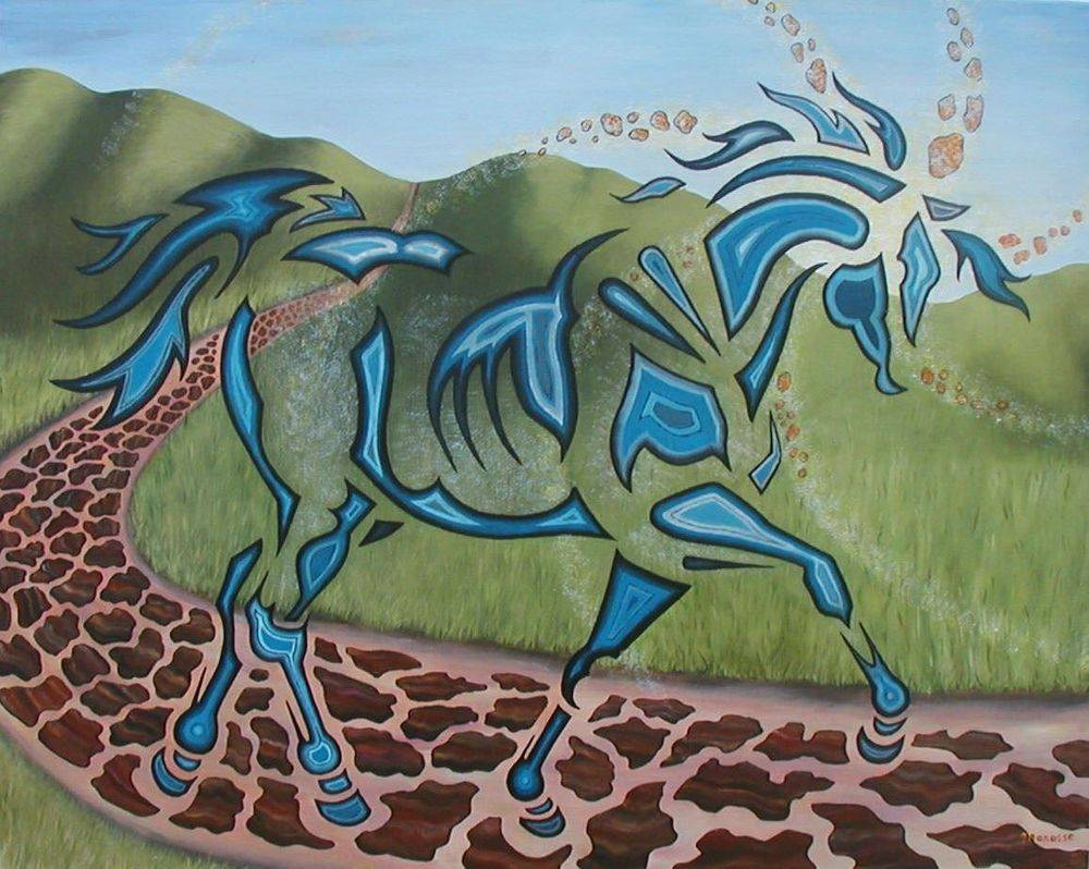 Bridle Path at Sunrise. Horse Painting, art, modern, contemporary