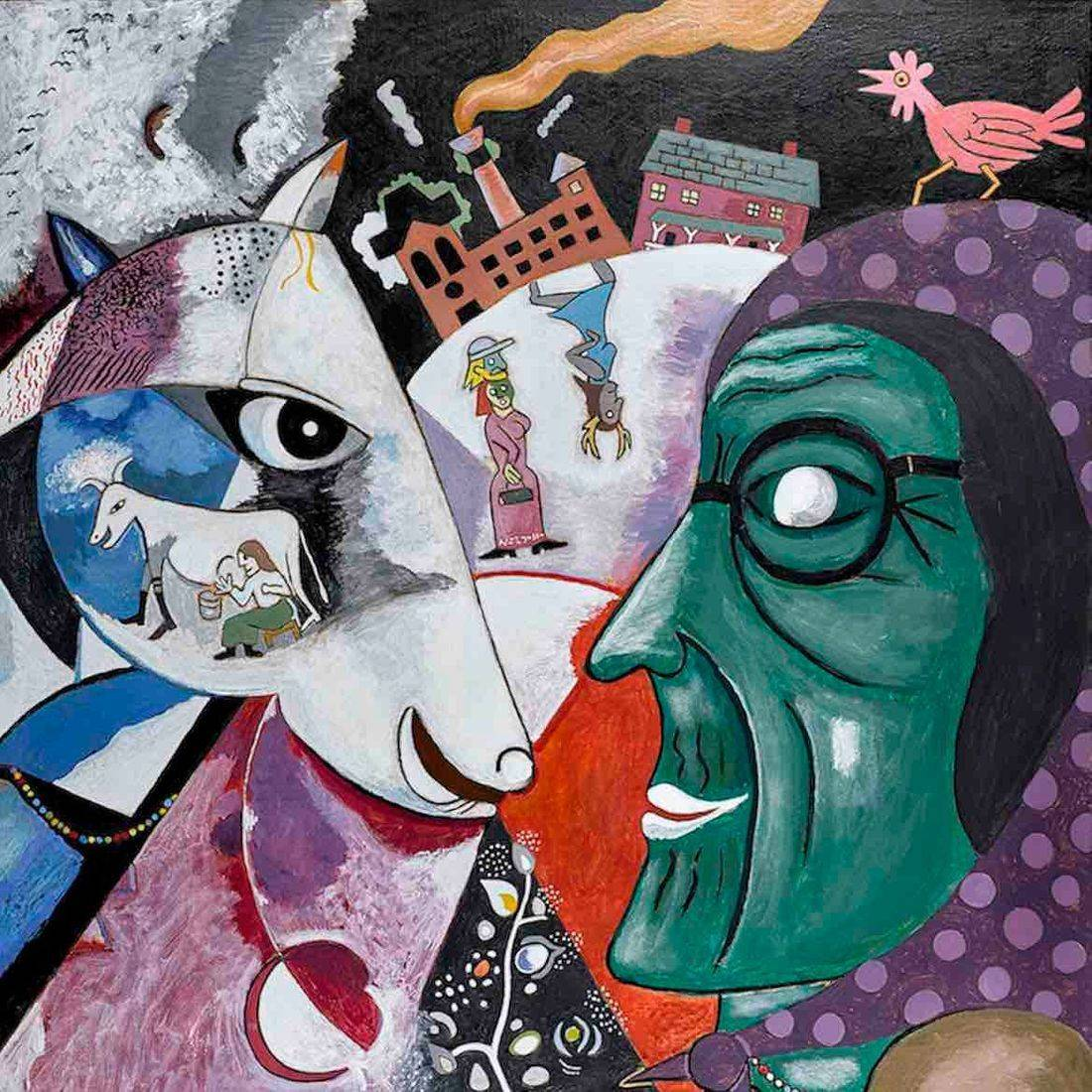 Marc Chagall, I and the Village, Grandma, Anthony Mill, Chicken, Babushka
