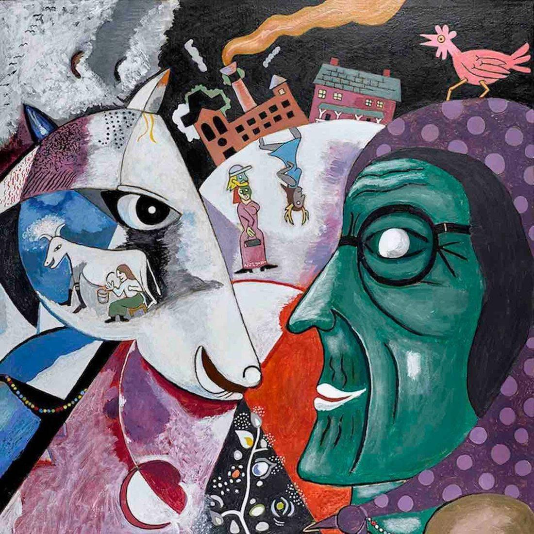 Marc Chagall, I and the Village, Grandma, Anthony Mill, Chicken, Babushka