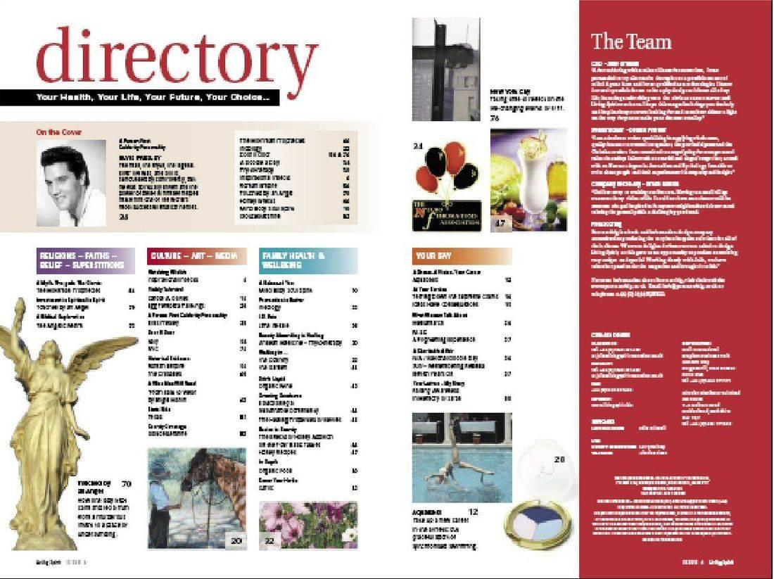 Living Spirit Magazine - Directory Issue 1 2019