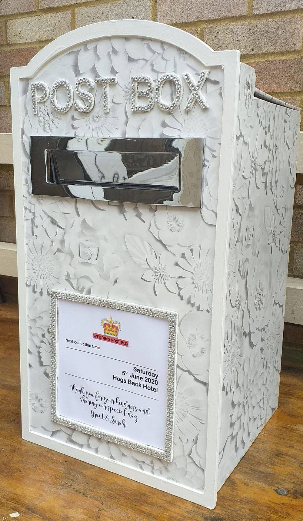 3D Rose Wedding Post Box Hire, Surrey, Hampshire