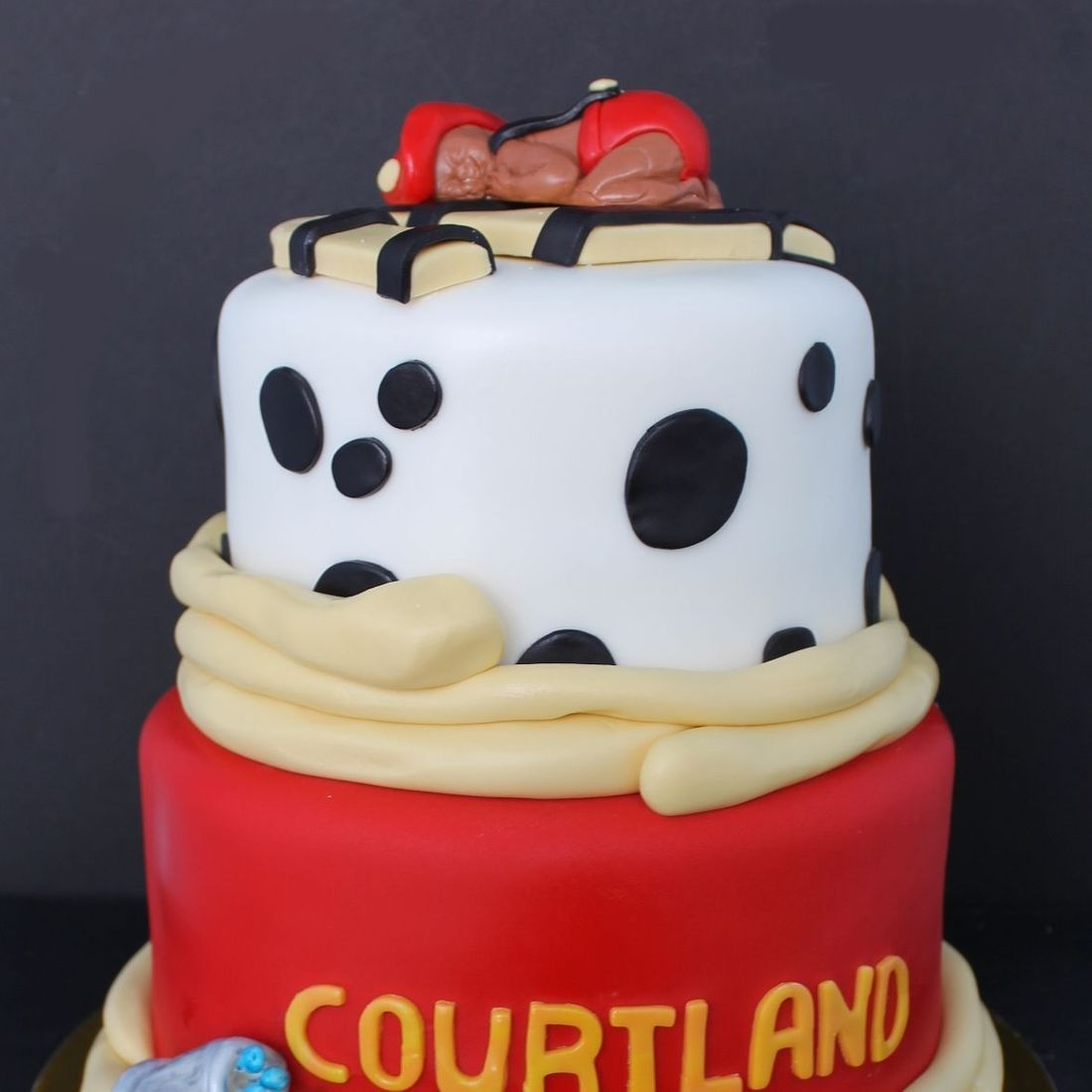Custom Baby Firefighter shower Cake  Milwaukee