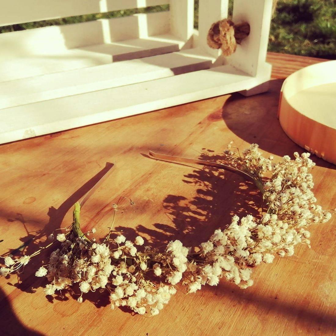 White Gypsophilia Flower Crown