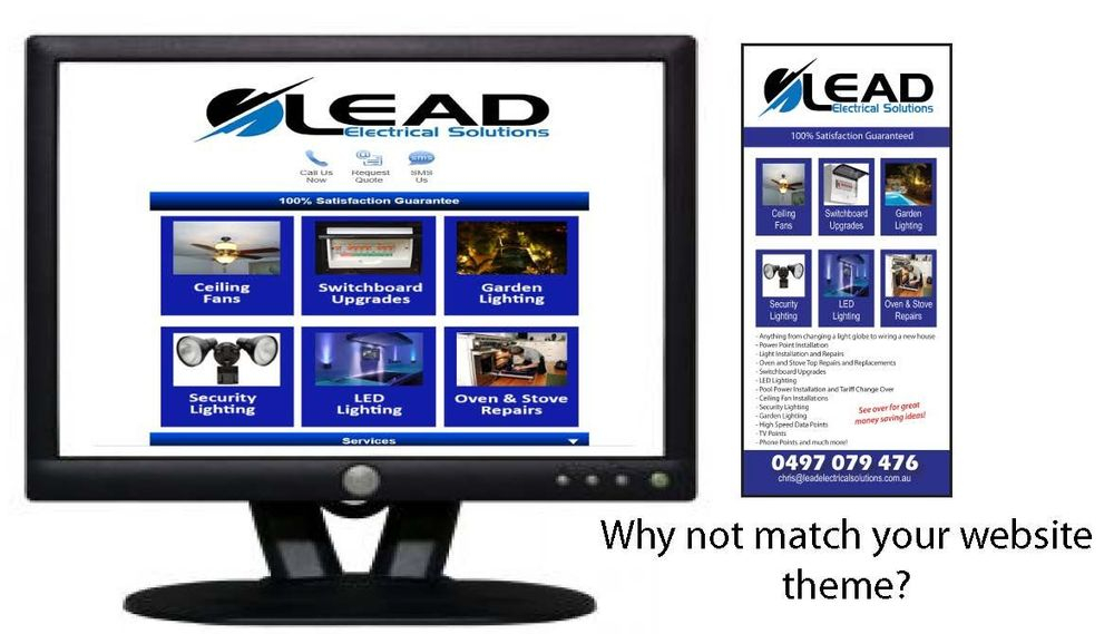 Website and brochure match design