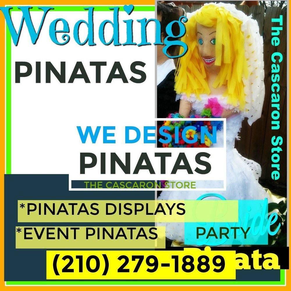 wedding bride & groom pinata
