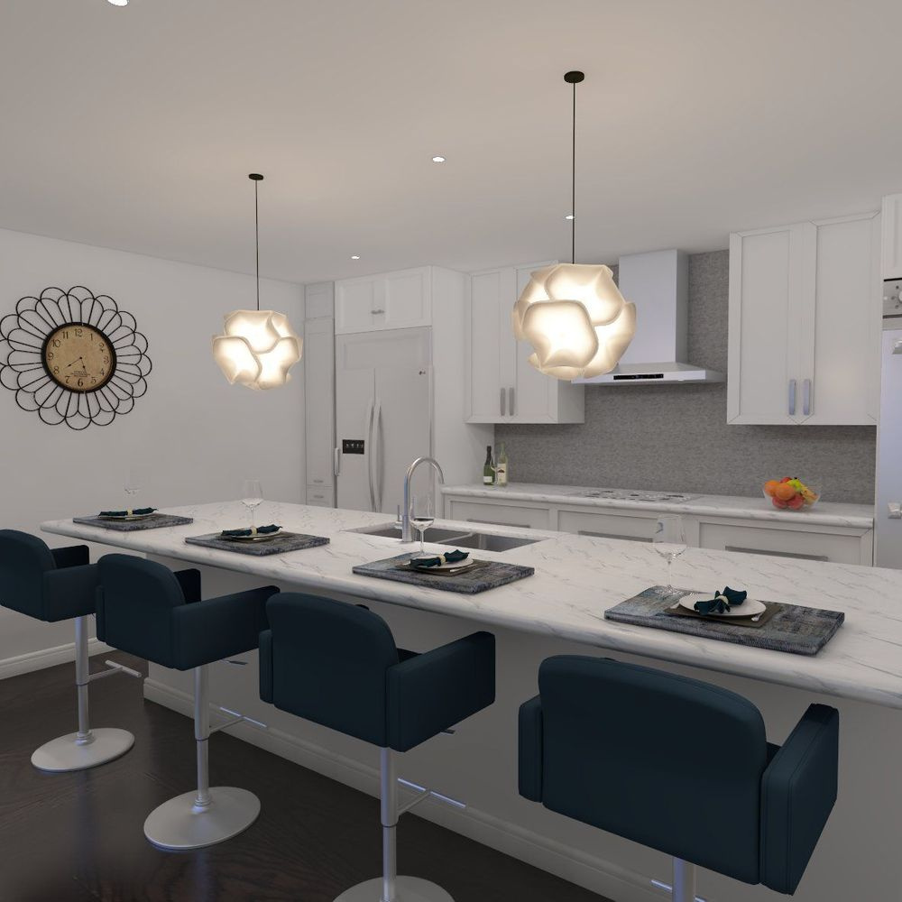 Kitchen, white cabinets, contemporary, interior design