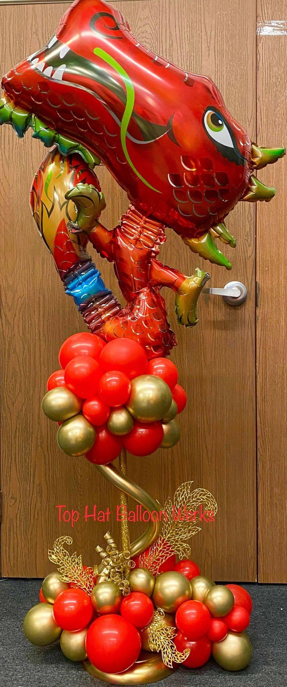 Organic Balloon Centerpiece