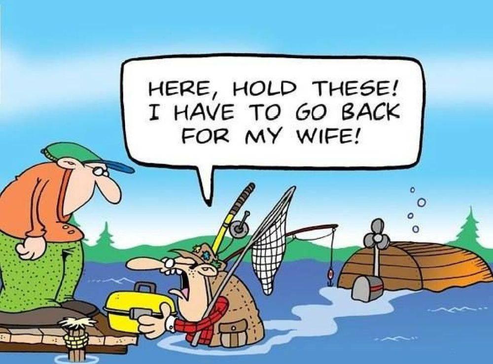 fishing, fishermen, capsize, rescue, humor