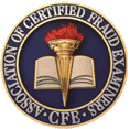 Certified Fraud Examiners Logo Professional handwriting experts are members