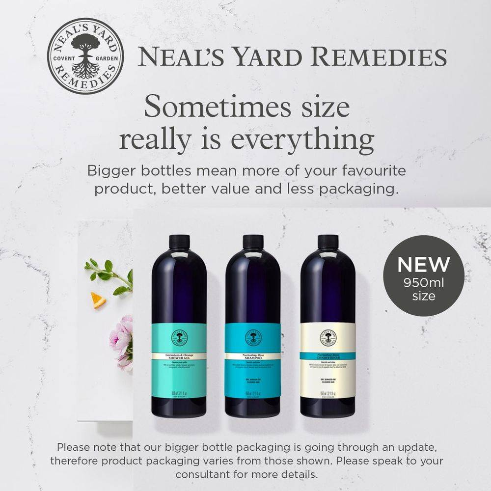 Neal's Yard Organic, organic, Frankinclarger bottles,  hair care, shower products