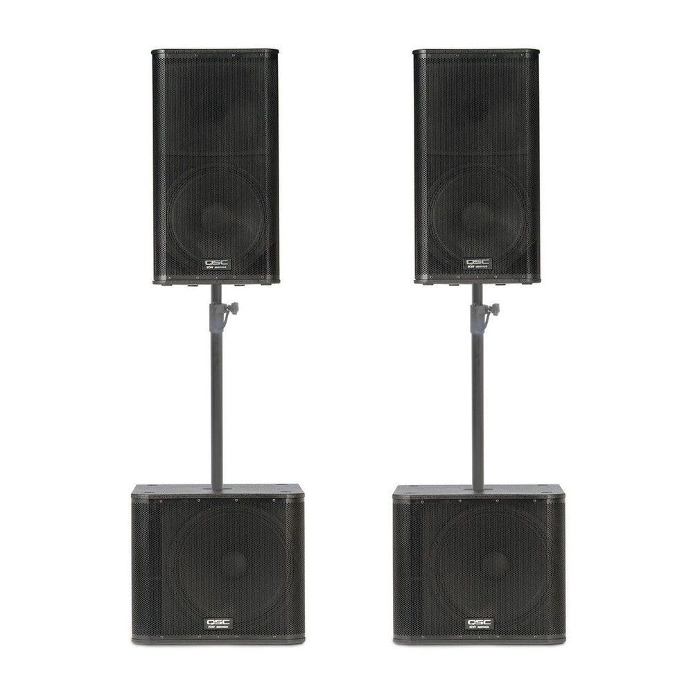 Medium Sized Powered Sound System with Subs for rent
