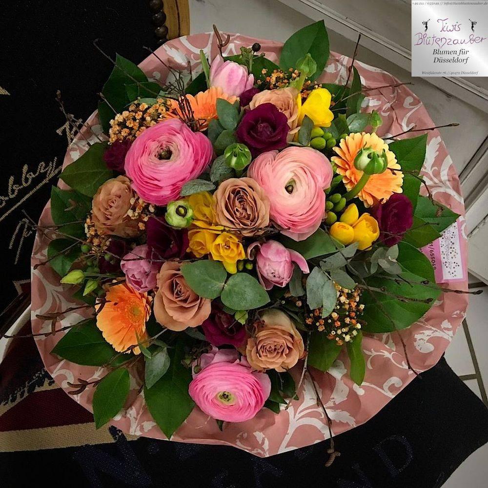 Blumenstrauß vom Blumenladen Tiwis Blütenzauber in Düsseldorf