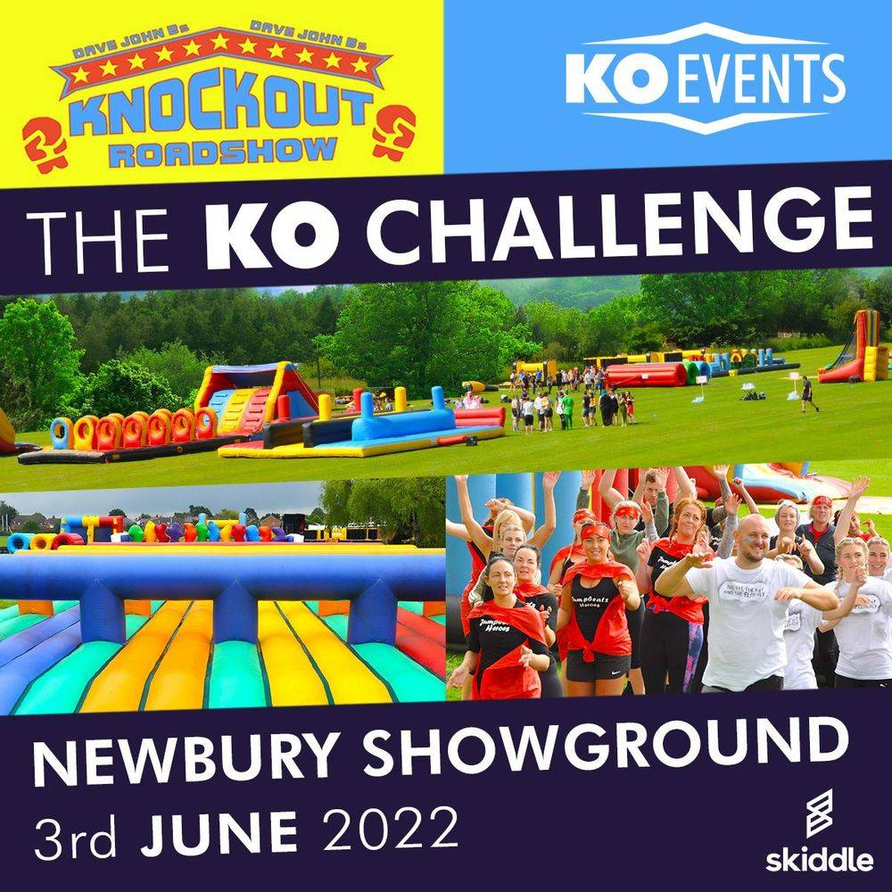Knockout Challenge Inflatable Obstacle Course Charity Sponsored Fun Run Walk Adventure Newbury