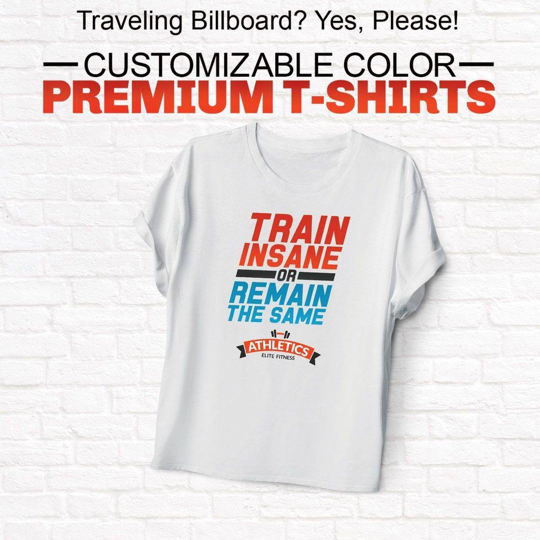 Custom, Printed, T-Shirt, Tee, Front, Back, White, Black, Color, Left Chest, Right Chest
