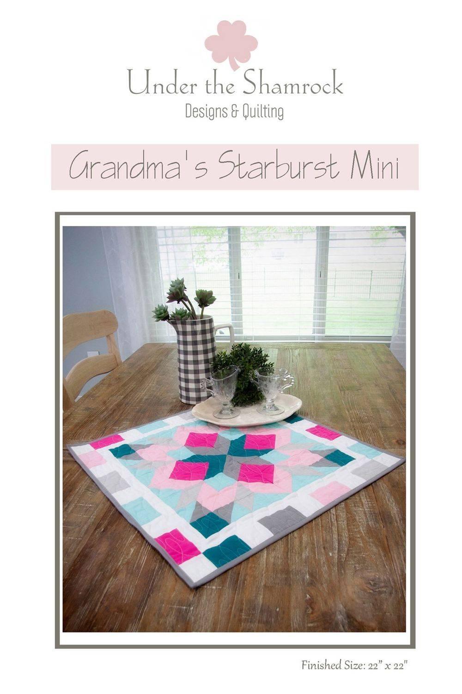 Grandma's Starburst Mini Quilt Pattern