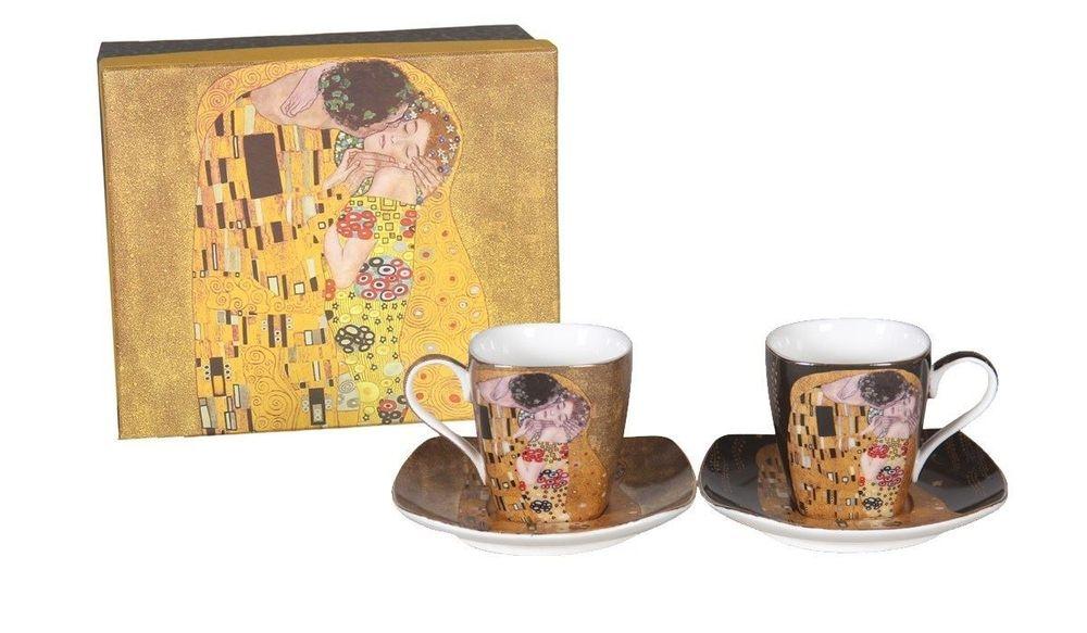 COFFRET 2 TASSES CAFÉ KLIMT   130  ML